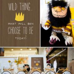 Where The Wild Things Are- My favorite childrens' book of all time.  Do I smell a 1 year birthday party theme in Baby Boy Dennis' future??