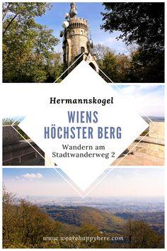 Wien Stadtwanderweg 2: Wanderung auf den Hermannskogel, den höchsten Berg Wiens, mit der Habsburgwarte. Viele Tipps, wie die Wanderung mit Kindern am besten gestaltet werden kann. #wandern #wanderungen #wien #ausflüge #wienwandern #österreich #ausflugstipps #wienerwald #stadtwanderwege #wienerstadtwanderwege #cobenzl #sievering #amhimmelwien Beste Hotels, Travel Destinations, Louvre, Nature, Movies, Movie Posters, Outdoor, Europe, Air Travel