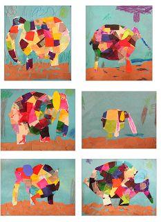 elmer the elephant Experiments in Art Education: 1st Grade