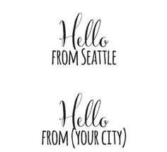 Hello from {YOUR CITY}! Such a cute stamp idea from #Impress shop in #Seattle