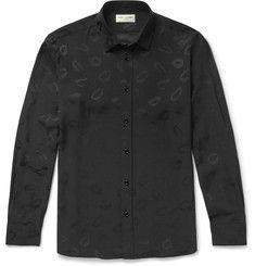 Saint Laurent - Lip-Jacquard Shirt