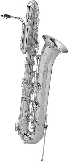 """A new lacquer definition optimizes the quality of the play of light through shades of """"gold"""" tone in the instrument's reflection. The neck key is redesigned through a lighter mechanism and subtly thinner outlines, thus becoming more elegant. Bass Saxophone, Paris Model, Silver Plate, Action, Musical Instruments, Saxophones, Art Forms, Horns, Inspire"""