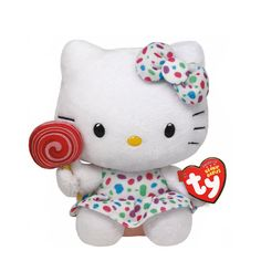 """<P>You can never have too many friends! Add this Hello Kittycandy lovingto your plush collection! She's wearing a cute polka dotdress with a matching pink bow! <P><STRONG>Plush Toy</STRONG> by <STRONG>Ty</STRONG> <UL><LI><B>Online only item</B> <LI>Suitable for children aged 3+ <LI>H 15cm/6""""</LI></UL>"""