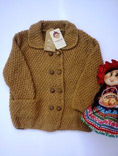 Alpaca wool hand knitted baby jacket cardigan by febressfashion, €31.90