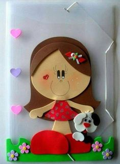 Bonecas e EVA - Como Fazer Kids Crafts, Foam Crafts, Preschool Crafts, Diy And Crafts, Arts And Crafts, Paper Crafts, Foam Sheets, Punch Art, Cute Dolls