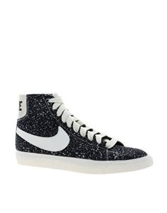 a35fa8d19193f Men s Nike Blazer high suede vintage sneakers in black sail at J ...