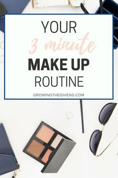 Try out your new, easy three-minute makeup routine that will get you out the door on time in the morning. Great makeup products don't have to take extra time to apply! Beauty Routine 30s, Morning Beauty Routine, Makeup Routine, Skincare Routine, Skin Routine, Skin Care Regimen, Skin Care Tips, Good Skin Tips, Prevent Wrinkles