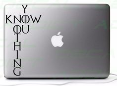 Game of #thrones you know nothing #vinyl decal #sticker for car/laptop/consoles,  View more on the LINK: http://www.zeppy.io/product/gb/2/262442691522/