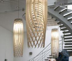 Name: WAVE Lamp Manufacturer: Wave Designer: Claudio Hils, Thomas Petzoldt, Thomas Gruber Natural Chandeliers, Suspended Lighting, Home Lighting, Light Fixtures, Designer, Ceiling Lights, Wave, Collection, Home Decor
