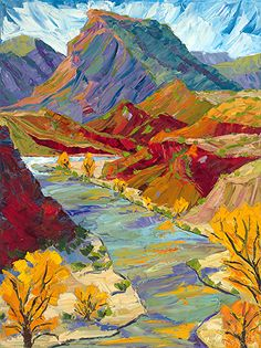 Chama River Patterns In Autumn Art Abstract Nature, Abstract Landscape, Landscape Paintings, Abstract Art, Landscapes, Fauvism Art, River Painting, Southwest Art, Album Photo