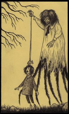 An illustration done on a sticky note by John Kenn