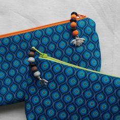 Makeup Bag, Pencil Bag, Cotton Shweshwe by LeopardCrawl on Etsy