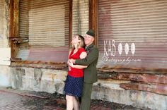 vintage inspired military engagement kab photography DFW Texas