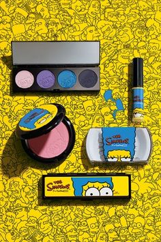 Prodcuts from The Simpsons collaboration with MAC. [Courtesy Photo]
