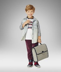 Kids have as much right to be stylish as anyone. Gucci helps in realising that with its Spring/Summer 2014 collection! http://www.luxuryfacts.com/index.php/sections/article/3912