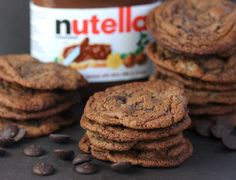 Nutella Chocolate Chip Cookies from @Kim Kelly