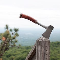 This is the same brand as my geology hammer! Estwing Camping Hatchet