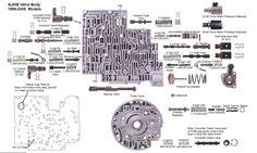 check ball locations in gm s 4l60e transmission valve bodies there rh pinterest com 4L60E Electrical Diagram 1997 4L60E Valve Body Diagram