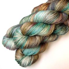 Silky 50/50 SW Merino and Silk Yarn Midcentury by JulieSpins