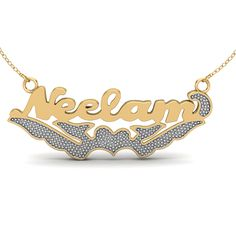 Friends and buddies are special people who give meaning and completeness to our lives and giving them some thoughtful gifts add to the recipe of friendship. The personalised bling name necklace written in bold capital letters look dazzling and funky every time. Plz Tag, comment and share, if you love it, or want it! Price - 2500/- Shop Now - http://www.orosilber.com/…/Personalized…/cid-CU00270386.aspx