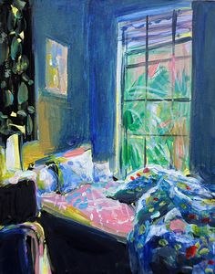 Ekaterina Popova's paintings centered around the idea of home,and the unmade beds that often find themselves beneath her brush,...