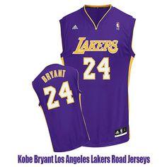 7d8a4dc89e2 Kobe Bryant Los Angeles Lakers Road Jerseys La Lakers
