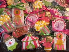 Fun to be one circus theme birthday party - See more of our cookies at http://www.ctcookietreats.com