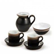 Shanagarry Coffee for 2 Service Pottery Shop, Handmade Pottery, Irish Pottery, Cork Ireland, Gift Sets, Earthenware, Wedding Gifts, Coffee, Black