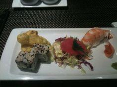 Eat free sushi, om nom nom