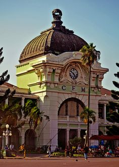 CFM, the train station in Maputo, Mozambique by mel de k - Baroque-Beaux Arts Styles architcture OL Maputo, Out Of Africa, East Africa, Cape Verde, Africa Travel, Capital City, Zimbabwe, Tanzania, Cyprus