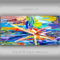 Original Texture Art painting huge Impasto brushwork by elsestudio, $358.00