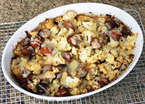 Cauliflower and Sausage Roast With Cheese