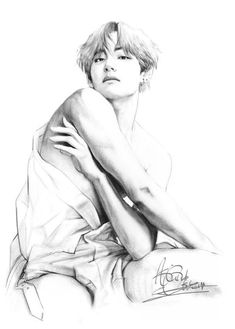 Tae by AnnaObscur Fanart Bts, Taehyung Fanart, V Taehyung, Jungkook Abs, Bts Art, Wall Art Prints, Poster Prints, Kpop Drawings, Bts Aesthetic Pictures