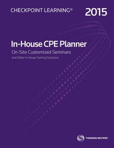 Download the In-House Planner from Checkpoint Learning to browse complete course information for all on-site training and consulting options, and build a training program for your staff! Custom solutions available.