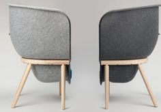 Benjamin Hubert: Pod|DevormPressed recycled PET felt, acoustic privacy chairs