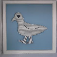 Quirky framed seagull (Seahorse blue) £60.00