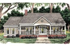 Exterior - Front Elevation Plan #406-263 - Houseplans.com