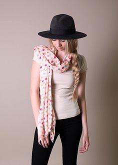 Anika Dali Women's Pretty Polka Dots Scarf. Fashion Shawl (Colorful Rainbow) at Amazon Women's Clothing store: Fashion Scarves