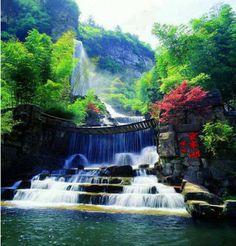 Fantastic Pictures from our Amazing World - Waterfall Bridge, Zhangjiajie, China
