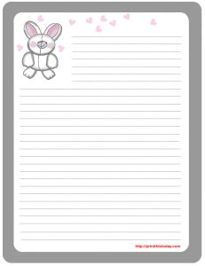 Cute {free} printable Easter stationery