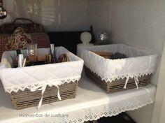 Momentos de Costura: Detalles decorativos Handmade Home Decor, Diy Home Decor, Room Decor, Easy Arts And Crafts, Diy Home Crafts, Diy Storage Boxes, Storage Baskets, Best Baby Shower Gifts, Diy Décoration