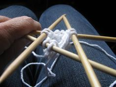 When knitting something circular in shape, the initial cast on can be a bit fiddly.  Working those first stitches with no knitting on your...