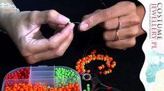 DIY - Kurs Biżuterii - Bardzo prosta bransoletka z koralików szklanych c...