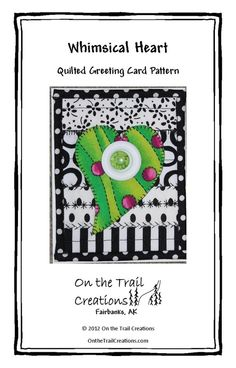 Heart Button Quilted Card Downloadable Pattern