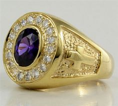 Our Yellow Gold Oval Bishop Ring carries a traditional bishop design. The frame of clear sparkling stones draws in all attention to shiny faceted amethyst. Amethyst Stone, Purple Amethyst, Sea Glass Jewelry, Fine Jewelry, Men's Jewelry, Gold Jewellery, Bishop Ring, Cartier, Yellow Gold Rings
