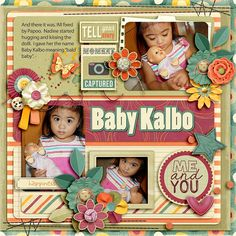 Part 2 of Baby Kalbo Story. Kit is TELL YOUR STORY by Blagovesta Gosheva of Scrapbookgraphics at 20% off. Template is from Picture Perfect 77 by Aprilisa Designs at Gotta Pixel and Gingerscraps at 40% off
