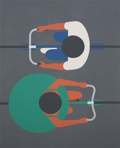 "Designersgotoheaven.com - Geoff McFetridge Passing,  Acrylic on canvas, 48"" x 60"", 2012."