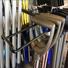 Whether your customers like straight- or offset Snow Shovel designs, this Snow Shovel Assortment By Loop Hook mobile display provides for your needs Garage Ideas, Shovel, Winter Snow, Visual Merchandising, Stationary, Hooks, Choices, Retail, Cold