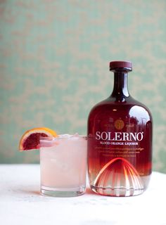 Solerno Blood Orange Liqueur Margarita. Mix it with Silver tequila, agave nectar, and fresh lime juice.....One of the most delicious summer beverages I've ever had.