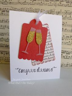 A congratulations/wedding card - a few more details are here http://jacquiesouthas.blogspot.com/2014/01/merry-monday-90-casology-week-77-bubbly.html,  tfl,  Jacquie